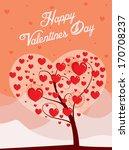 valentines day tree | Shutterstock .eps vector #170708237