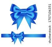 hand drawn decorative blue... | Shutterstock .eps vector #1707106351