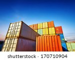 stack of cargo containers at... | Shutterstock . vector #170710904