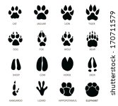 animals footprints | Shutterstock .eps vector #170711579
