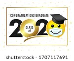 graduating class of 2020 with... | Shutterstock .eps vector #1707117691