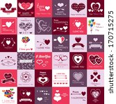 happy valentines day and... | Shutterstock .eps vector #170715275