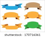 ribbon collection. | Shutterstock .eps vector #170716361