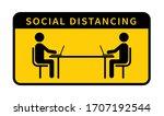 people working on laptops.... | Shutterstock .eps vector #1707192544