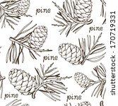 pine seamless pattern | Shutterstock .eps vector #170719331