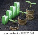 trees growing on coins   csr  ... | Shutterstock . vector #170721044