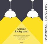 dark background with sample... | Shutterstock .eps vector #1707221497