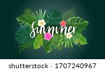 summer background with tropical ... | Shutterstock .eps vector #1707240967