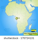 map of gabon with main cities... | Shutterstock . vector #170724131