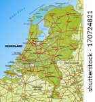 map of netherlands with... | Shutterstock . vector #170724821