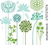 flower bed   Shutterstock .eps vector #170727074