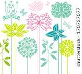 flower bed | Shutterstock .eps vector #170727077