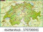 map of switzerland with... | Shutterstock . vector #170730041