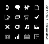 contrast pixel icons set for...