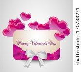 valentine day card width pink... | Shutterstock .eps vector #170733221