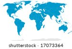 detailed world map with country ... | Shutterstock .eps vector #17073364