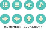 simple web button icons set....