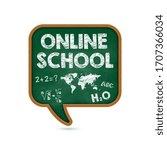 promotional banner online... | Shutterstock .eps vector #1707366034