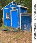 Old Designer Blue Yard Shed