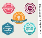 set of retro labels and signs. | Shutterstock .eps vector #170737034