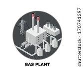natural gas plant  non... | Shutterstock .eps vector #170741297