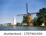 A Sailboat In Front Of The...