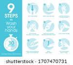 how to wash hands step by step... | Shutterstock .eps vector #1707470731