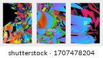 abstract flyer template with...   Shutterstock .eps vector #1707478204