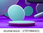illuminated by neon light round ... | Shutterstock . vector #1707486421