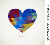triangle heart on white... | Shutterstock .eps vector #170749079