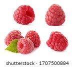 Set Of Fresh Sweet Raspberries...
