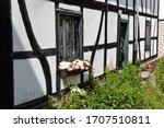 Flower Box On A Half Timbered...