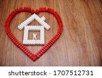 Red Heart With A White House...