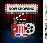 cinema background concept ... | Shutterstock .eps vector #1707522214