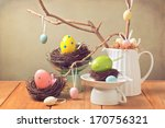 easter eggs decorations with... | Shutterstock . vector #170756321