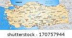 map of turkey as an overview... | Shutterstock . vector #170757944