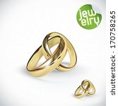 vector gold wedding rings... | Shutterstock .eps vector #170758265