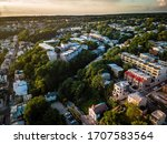 Aerial Drone of Manayunk Sunset