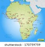 map of africa as an overview... | Shutterstock . vector #170759759