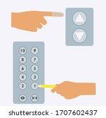 using finger cover to press... | Shutterstock .eps vector #1707602437