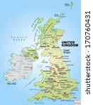 map of england as an overview... | Shutterstock . vector #170760431