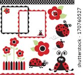 ladybug collection | Shutterstock .eps vector #170760527
