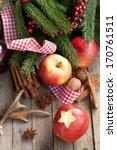christmas time  apple | Shutterstock . vector #170761511