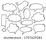 a set of comic bubbles and...   Shutterstock .eps vector #1707629281