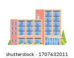 office building. flat design...   Shutterstock .eps vector #1707632011