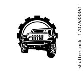 truck wheel silhouette with...   Shutterstock .eps vector #1707633361