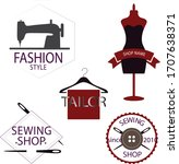 abstract tailor shop logo... | Shutterstock .eps vector #1707638371