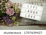 Live Laugh Love Word In Light...