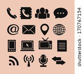 set of icons for web and mobile ... | Shutterstock .eps vector #170767154