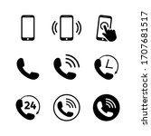 phone icon set. mobile and...